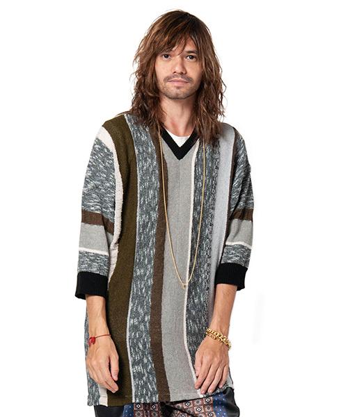 【glamb(グラム)】Coen big stripe knit-コーエンビッグストライプニット(GB0119-KNT05)