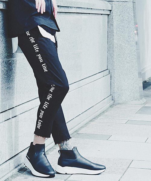 【CHORD NUMBER EIGHT(コードナンバーエイト)】SIDE LINE CROPPED PANTS クロップドパンツ(N8M1K1-PT08)