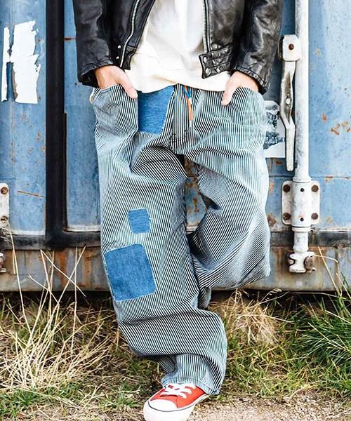 【glamb(グラム)】【予約販売3月下旬~4月上旬入荷】Mess hickory pants-メスヒッコリーパンツ(GB0119-P06)