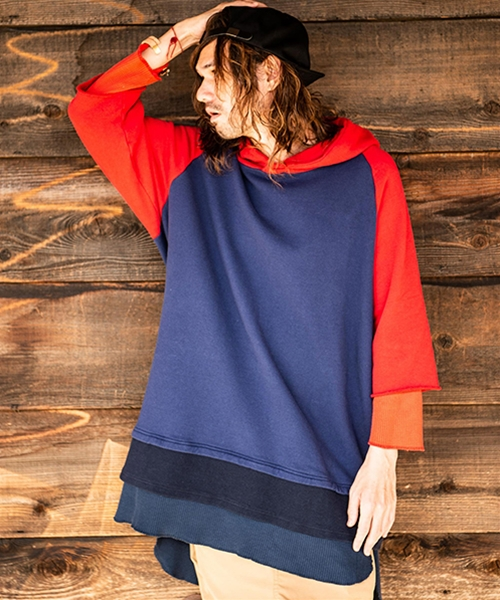 【glamb(グラム)】Tri layered hoodie-トライレイヤードフーディ(GB0119-CS01 )