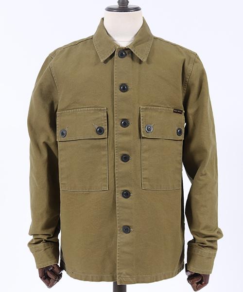 【Nudie Jeans(ヌーディージーンズ)】STEN SWEDISH ARMY SHIRT ワーカーシャツ(140564)