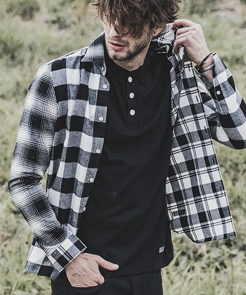 【felkod(フィルコッド)】Calm Crazy Check Shirts チェックシャツ(F19S040)