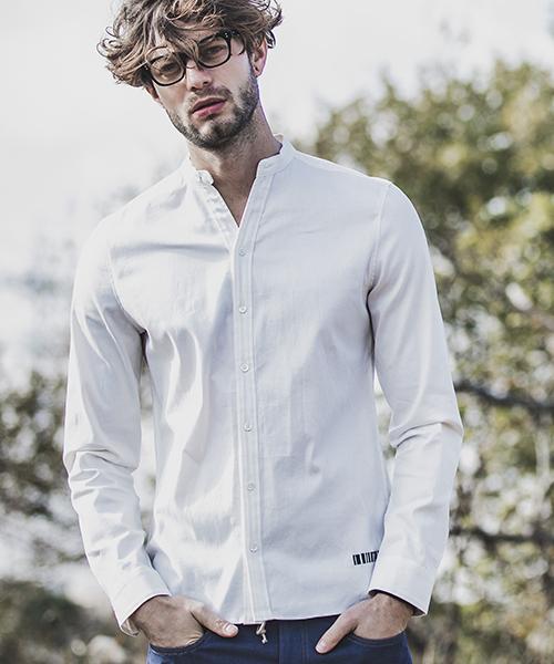 【felkod(フィルコッド)】【予約販売4月下旬~5月上旬入荷】Cool Stretch Band Color Shirts バンドカラーシャツ(F19S050)