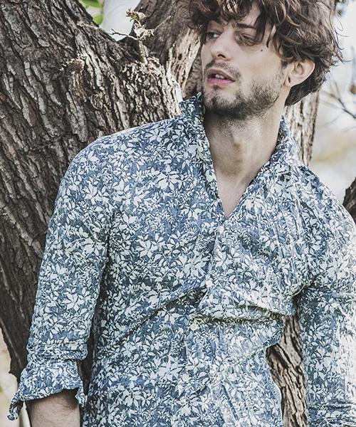【felkod(フィルコッド)】【予約販売3月下旬~4月上旬入荷】Flower Pattern Crinkle Shirts シャツ(F19S070)