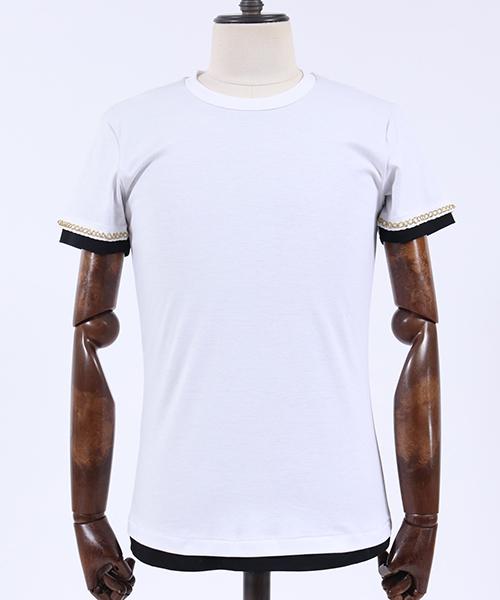 【AKM】S-S CREW (GOLD) Tシャツ(T156-CTN190)