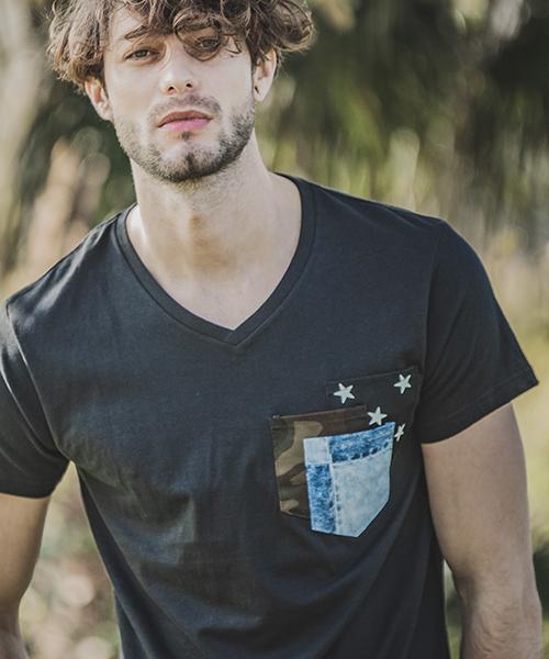 【felkod(フィルコッド)】Moist Jersey Accent Pocket Tee Tシャツ(F19S190)