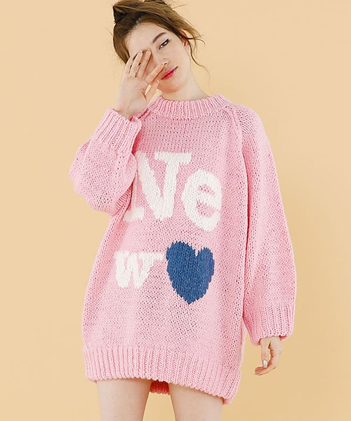 【Little sunny bite(リトルサニーバイト)】NEW knit dress ニットドレス(LSB-LKOP-125K)