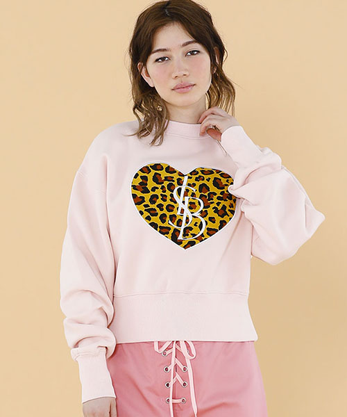 【Little sunny bite(リトルサニーバイト)】Stiched big heat sweater スウェット(LSB-LTOP-121K)