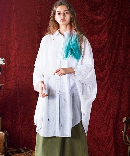 【bedsidedrama】ワンダーランドマキシシャツ(bsd19SS-07)