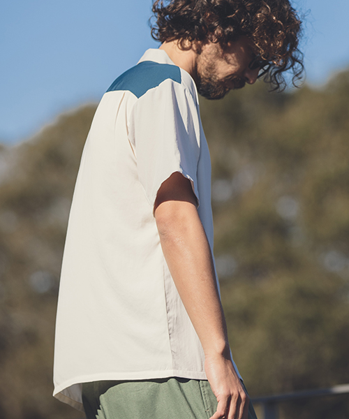【ANGENEHM(アンゲネーム)】【予約販売4月上旬~中旬入荷】Vintage Like Switch Short Sleeve Shirts(MADE IN JAPAN) シャツ(ANG9-005)