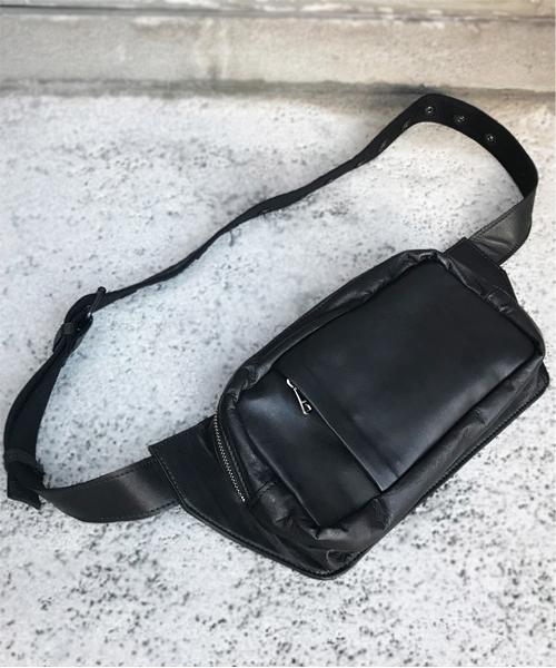 【DECADE(ディケイド)】【予約販売ご注文から1週間後出荷】Soft Horse Leather Waist Body Bag レザーバッグ(DCD-01128)