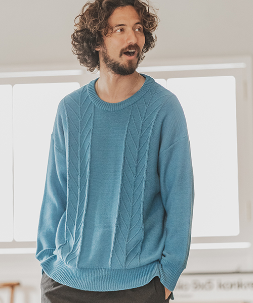 【CAMBIO(カンビオ)】Gimmick Loose Knit Pullover ニットプルオーバー