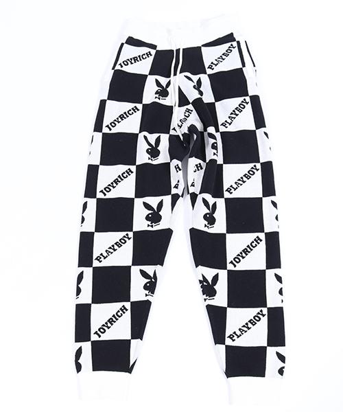 パンツ(1847202101) 【JOY Pants RICH(ジョイリッチ)】Checkered Jacquard