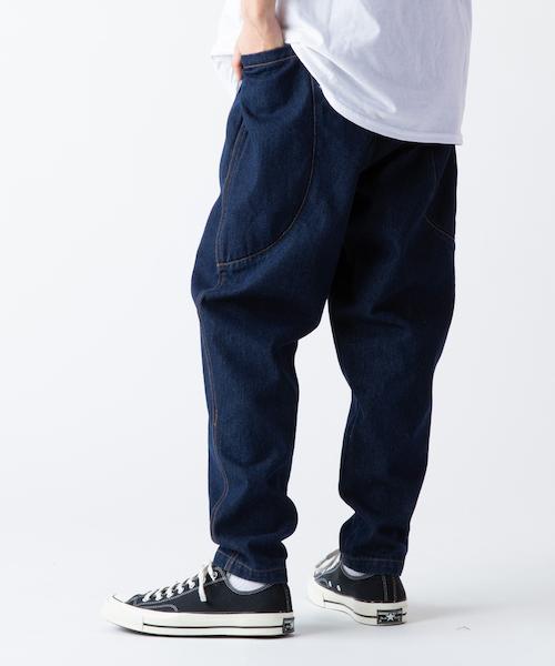 【rehacer(レアセル)】【予約販売6月下旬~7月上旬入荷予定】Big Pocket Wide Tapered Denim デニムパンツ(01190500020)
