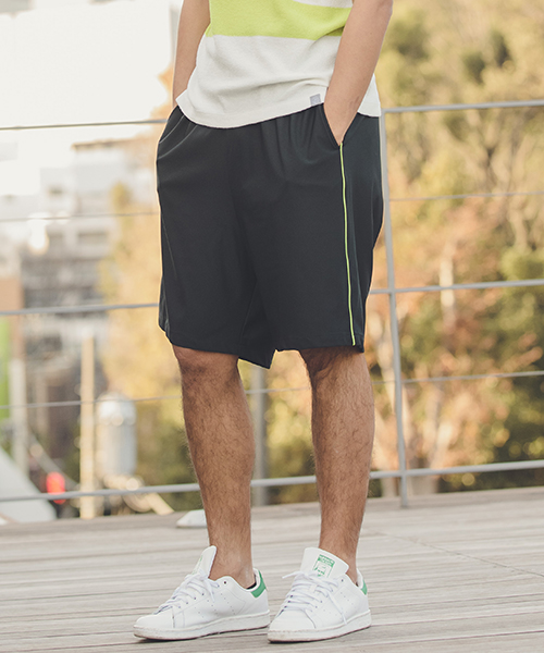 【ANGENEHM(アンゲネーム)】【予約販売4月上旬~中旬入荷】Side Piping Line Saruel Shorts(MADE IN JAPAN) パンツ(ANG9-022)
