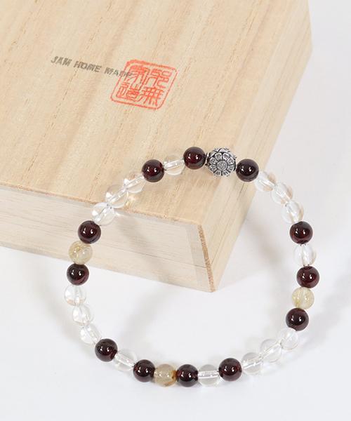 【JAM HOME MADE(ジャムホームメイド)】全技連 数珠ブレス チャクラ 仕事運 -M-(JZMBR4B)