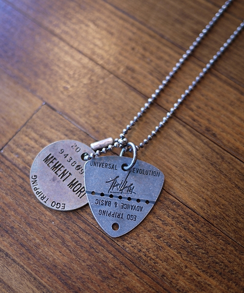 【EGO TRIPPING(エゴトリッピング)】TRI4TH×EGOTRIPPING DOGTAG COMBI 70 ネックレス(693458)
