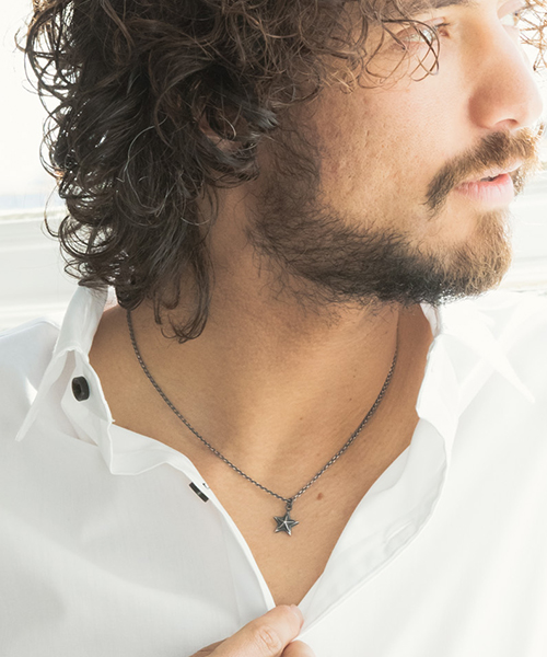 【CAMBIO(カンビオ)】3D Star Silver Necklace ネックレス(C096)