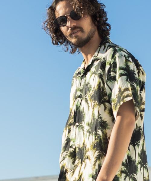 【CAMBIO(カンビオ)】【予約販売4月上旬~中旬入荷】Resort Loose Open Collar Shirts シャツ(MIFK19-044B)