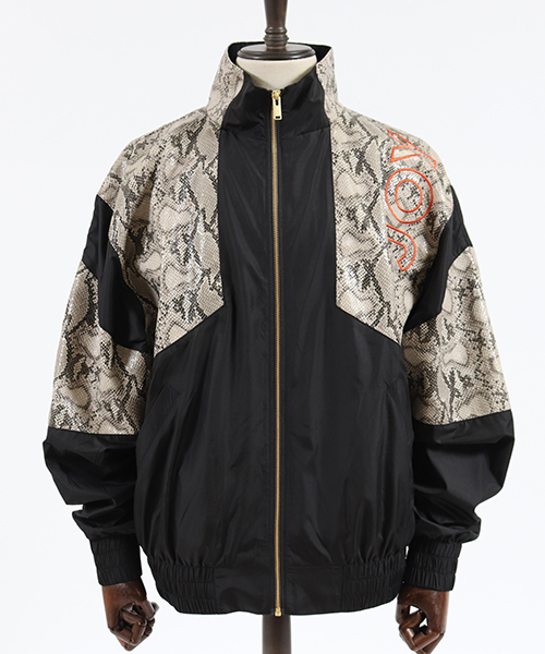 【JOY RICH(ジョイリッチ)】Snakeskin Block Nylon Jacket ナイロンジャケット(1840100128)