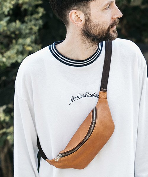 【MROLIVE(ミスターオリーブ)】【予約販売5月中旬~下旬入荷】WATER PROOF WASHABLE LEATHER -SMALL BODY BAG ボディバッグ(ME681)
