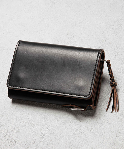 【MROLIVE(ミスターオリーブ)】【予約販売4月上旬~中旬入荷】HORWEEN CHROMEXCEL LEATHER -STONE HEAD FRINGE SHORT WALLET 財布(ME111H)