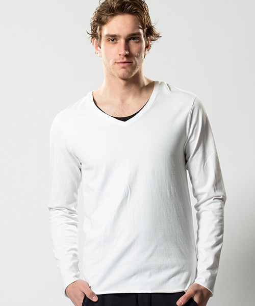 【wjk】【予約販売9月上旬~中旬入荷】standard jersey V neck L-S カットソー(7740 js01p)