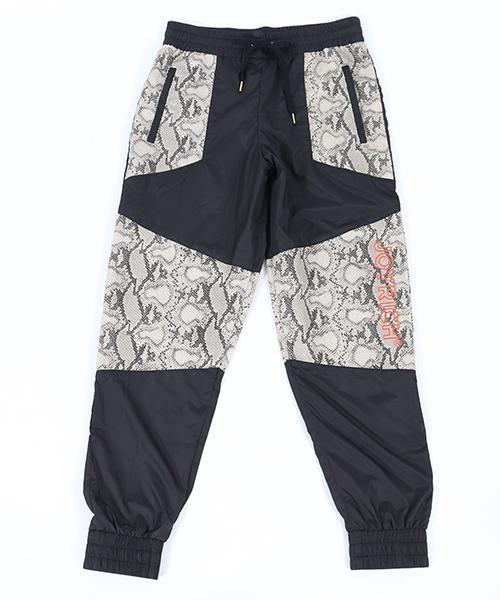 【JOY RICH(ジョイリッチ)】Snakeskin Block Nylon Pants ナイロンパンツ(1840102112)