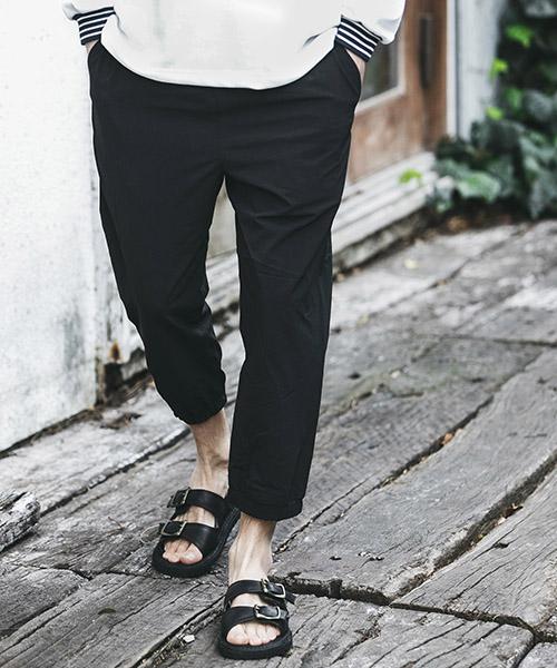【MROLIVE(ミスターオリーブ)】【予約販売4月末~5月上旬入荷】COOL TOUCH SUPER STRETCH NYLON -CROPPED JOGGER PANTS イージージョガーパンツ(M-19209)