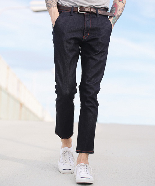 【MROLIVE(ミスターオリーブ)】【予約販売4月末~5月上旬入荷】SUPER STRETCH DENIM -ONE WASH ANKLE CUT SLIM PANTS パンツ(M-5134)