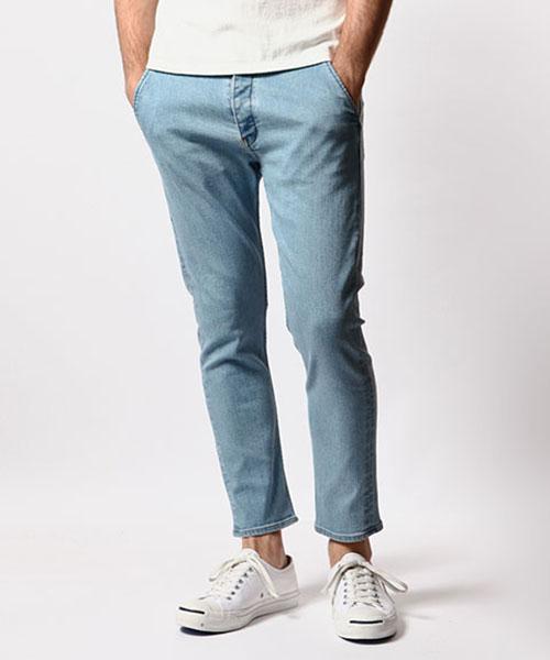 【MROLIVE(ミスターオリーブ)】【予約販売4月末~5月上旬入荷】SUPER STRETCH DENIM -BLEACH WASH ANKLE CUT SLIM PANTS パンツ(M-6146)
