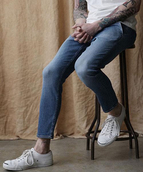 【MROLIVE(ミスターオリーブ)】【予約販売5月中旬~下旬入荷】SUPER STRETCH DENIM -LIGHT USED ANKLE CUT SLIM PANTS デニムパンツ(M-7237)