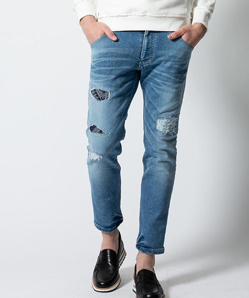 【wjk】【予約販売9月中旬~下旬入荷】tight knit-denim pants USED デニムパンツ(5823 dj25p)