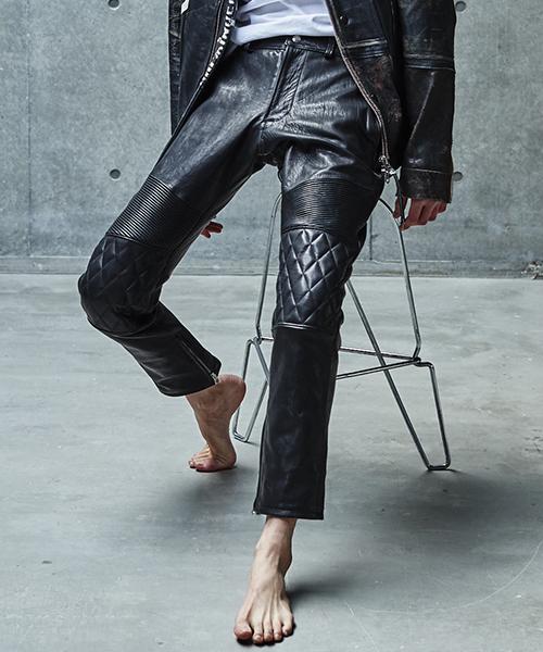 【SEVESKIG(セヴシグ)】【予約販売9月入荷予定】LEATHER PANTS パンツ(PT-SV-KA-1001)