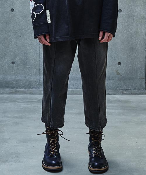 【SEVESKIG(セヴシグ)】【予約販売8月入荷予定】VINTAGE UPSYCLE PANTS パンツ(PT-SV-KA-1003)