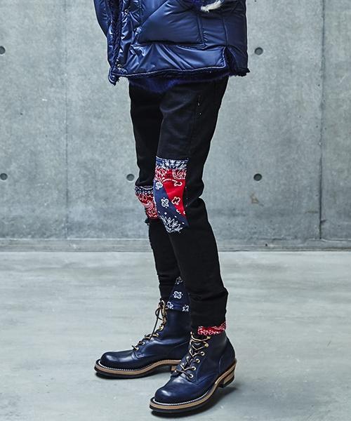 【SEVESKIG(セヴシグ)】【予約販売8月入荷予定】EXTRA STRETCH SKINNY BLACK PANTS パンツ(PT-SV-KA-1007)