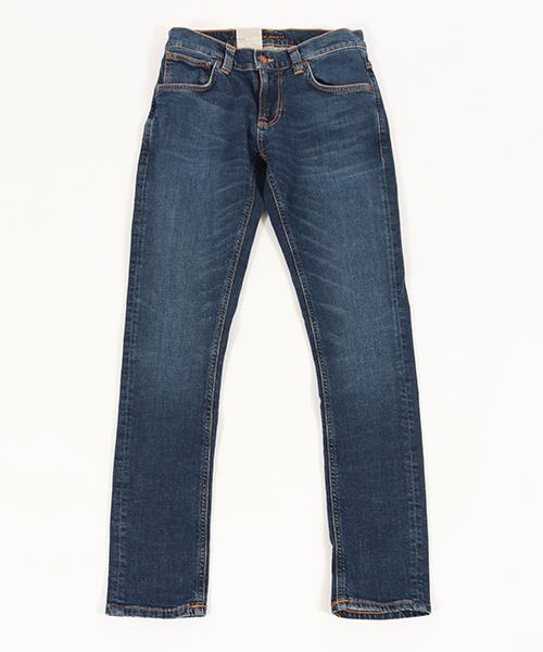 【Nudie Jeans(ヌーディージーンズ)】TIGHT TERRY MID BLUE ORANGE デニムパンツ(112944030)