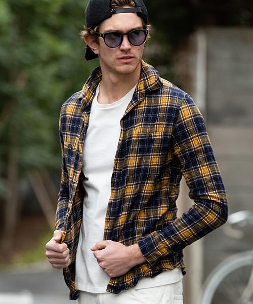 【wjk】【予約販売9月中旬~下旬入荷】wrinkle check shirt リンクルシャツ(4852 ch76p)