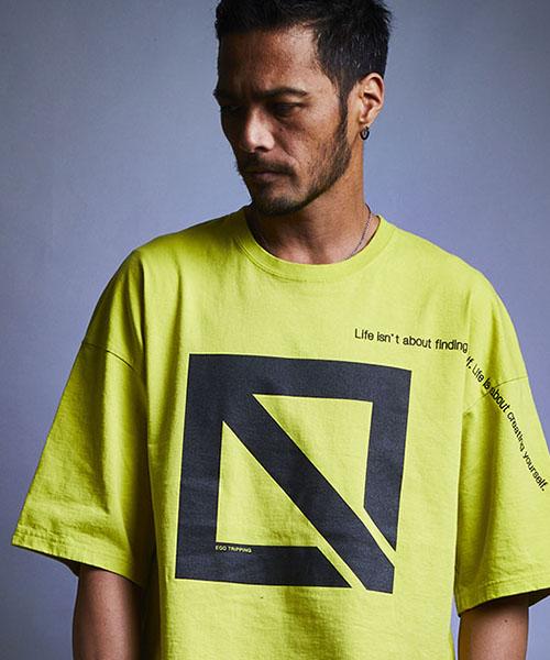 【EGO TRIPPING(エゴトリッピング)】【予約販売5月上旬~中旬入荷】E.ICON & MESSAGE TEE Tシャツ(663459)