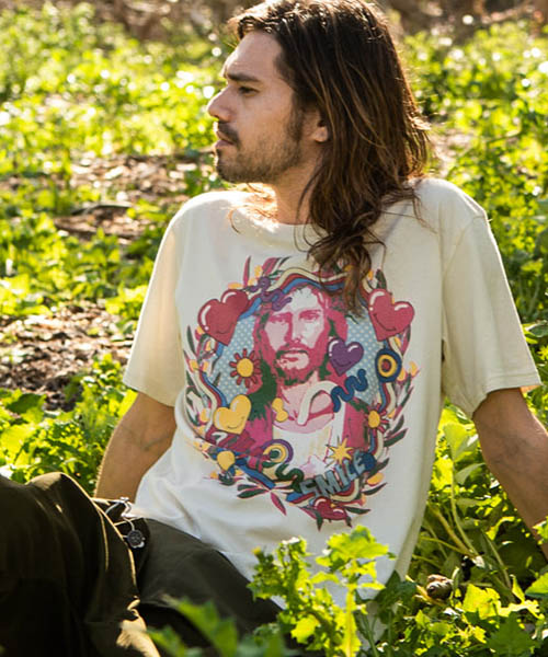 【glamb(グラム)】【予約販売7月上~中旬入荷】 Jesus CS ジーザスカットソー Tシャツ(GB0219-CS15)