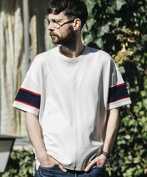【MROLIVE(ミスターオリーブ)】【予約販売4月末~5月上旬入荷】RAYON PONTE -BIG SILHOUTTE RUGBY T-SHIRT Tシャツ(M-19208)