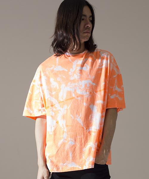 【NO ID.(ノーアイディー)】【予約販売4月上旬~中旬入荷】総柄BIG-T Tシャツ(444013-879T)