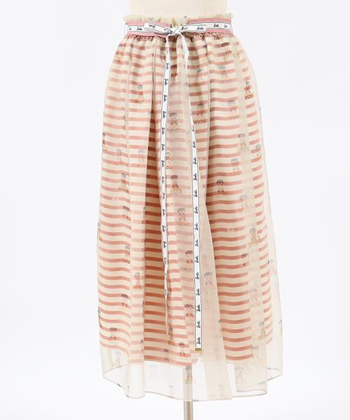 【Lily Brown(リリーブラウン)】Barbie レイヤードスカート(LWFS191201)