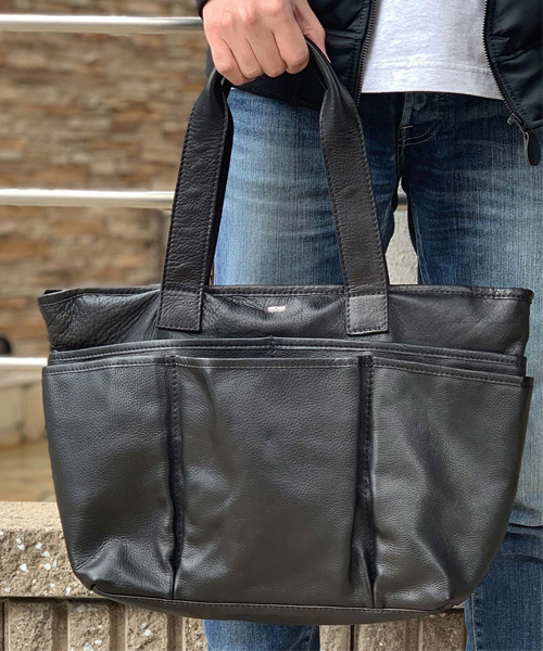 【DECADE(ディケイド)】【予約販売ご注文から1週間後出荷】Oiled Cow Leather Garden Tote Bag(L) トートバッグ(DCD-01149)