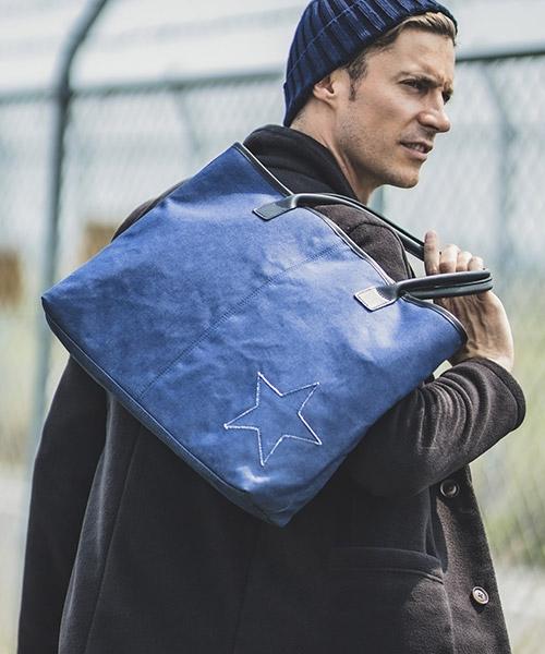 【felkod(フィルコッド)】One Star Denim Leather Tote Bag トートバッグ(F19W150)