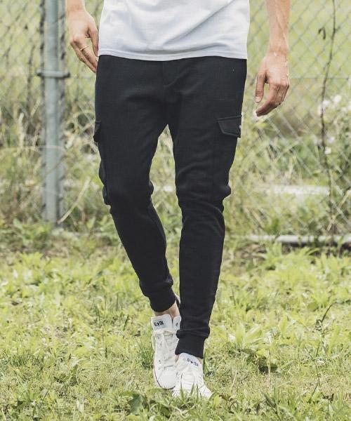 【felkod(フィルコッド)】URAKE Tapered Skinny Sweat Cargo Pants スウェットカーゴパンツ(F19W210)