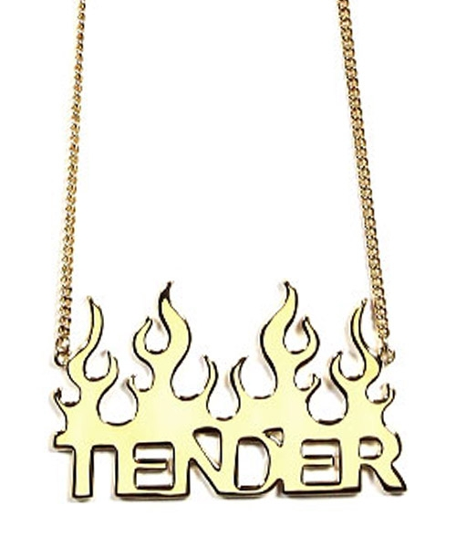 【TENDER PERSON(テンダーパーソン)】METAL EMBLEM CHAIN(AD-TO-1240)
