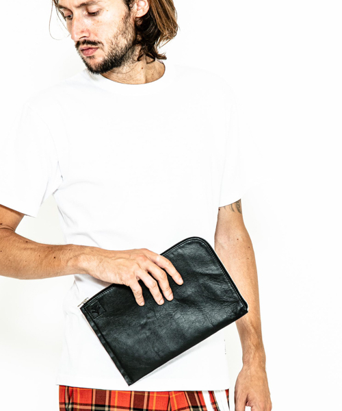 【ACANTHUS(アカンサス)】leather mini clutch bag クラッチバッグ(LB2001)
