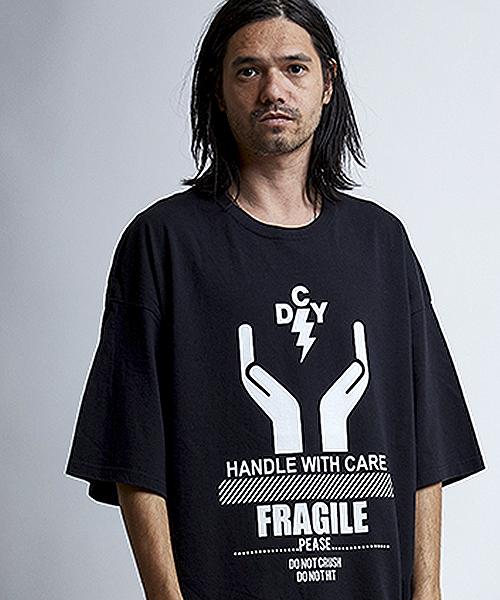 【EGO TRIPPING(エゴトリッピング)】EGO×DECOY 取扱注意 TEE Tシャツ(663616)
