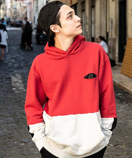 【glamb(グラム)】Bicolor hoodie -バイカラーフーディ(GB0120-CS08)